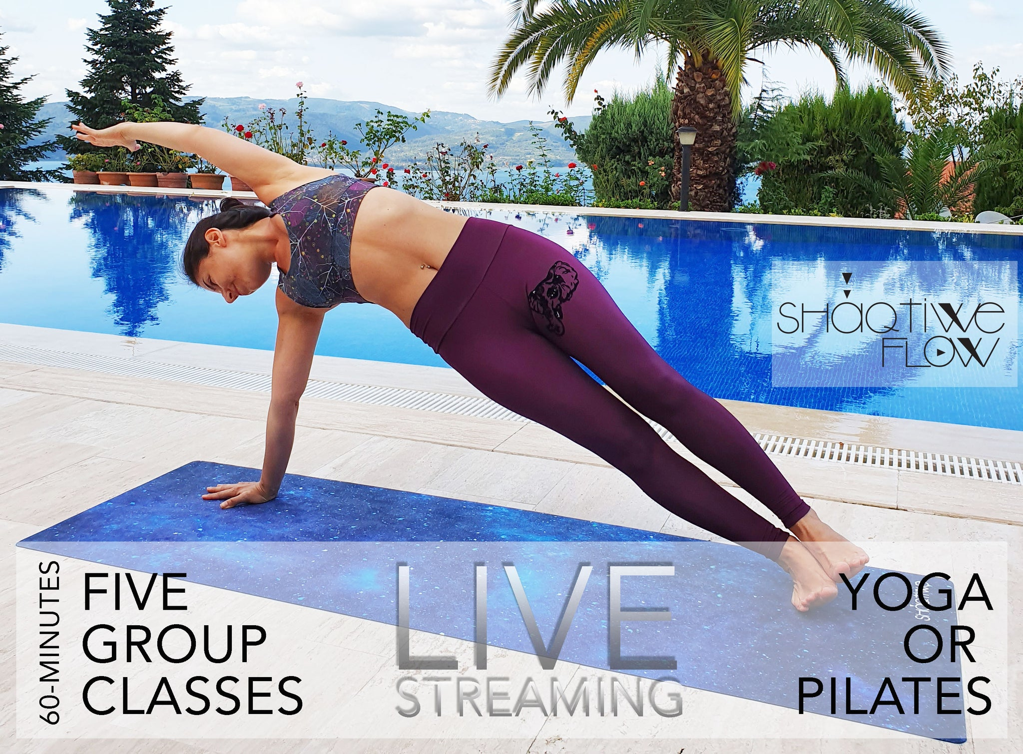 5 GROUP LIVE YOGA or PILATES CLASS