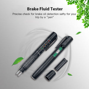 Brake Fluid Tester LED Moisture Water Compact Tool Test Indicator Pen