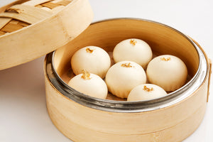 Steamed golden lava buns with custard & egg yolk