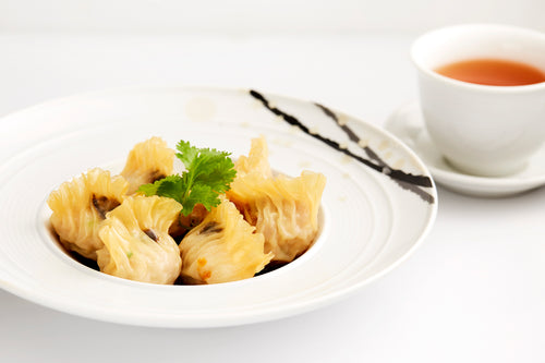 Poached chicken dumplings Szechuan-style