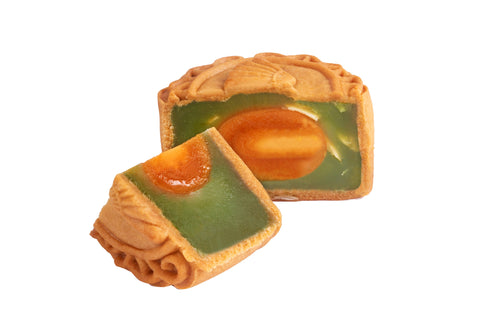 Baked Pandan with Single Egg Yolk Mooncake