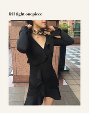 frill tight onepiece・全1色