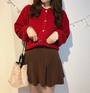 【kanade×iine】neck lace button blouse・全3色
