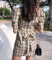 chic check onepiece・全1色