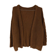 brown cable cardigan・全1色