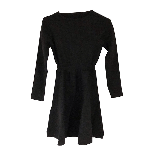black knit one-piece・全1色