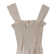 white gather  one-piece