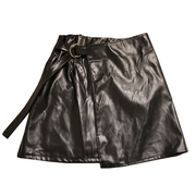 leather mini skirt・全1色