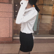 french round collar blouse・全1色