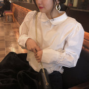 puff sleeves shirt blouse・全1色