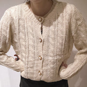 cable knit cardigan・全1色