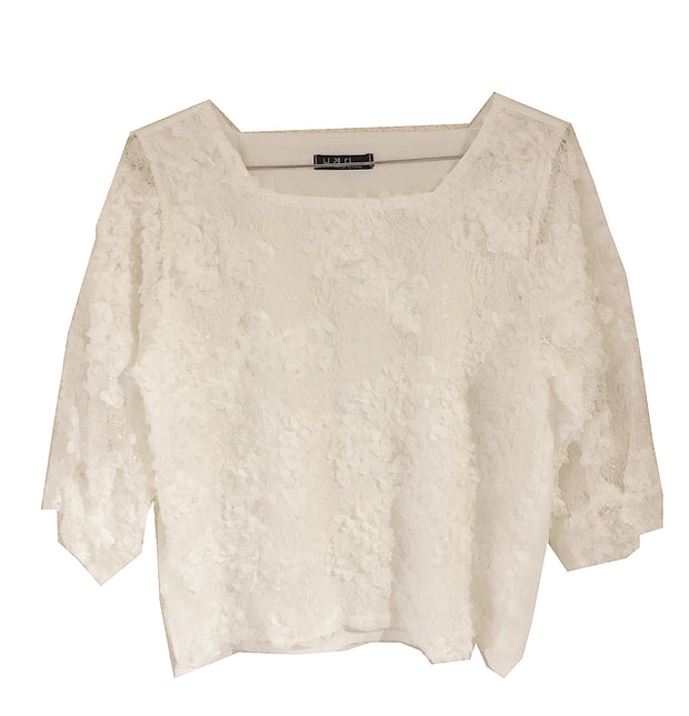 flower lace tops・全1色