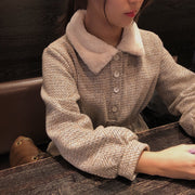 fur collar girly onepiece・全1色