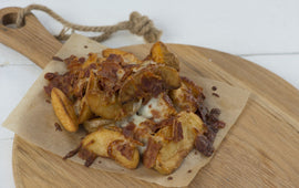 Cheesy Bacon Jacket Wedges - CHEATAH
