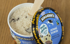Ben & Jerry's Moo-Phoria! Light Caramel Brownie Ice Cream 100ml - CHEATAH