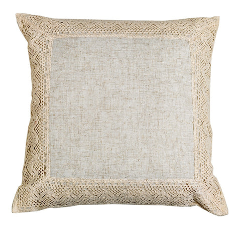 DEBBIE TRAVIS MAYFAIR LACE PILLOW 18""