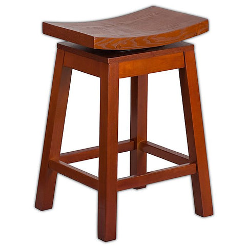 Light Cherry Square Stool