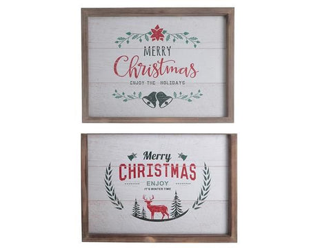 Wooden Wall Art (Christmas Greetings)