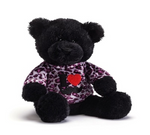 Gund Plush T-Shirt Bear I Heart Mustaches 12""