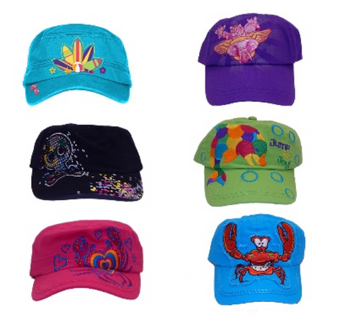 Kid Tees Child Baseball Hat Assortment 100% Cotton Assorted Colors/Designs