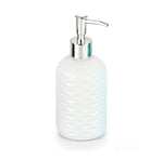 Glass Soap Pump, White With Decal