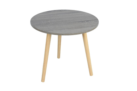 New Round MDF Side Table Grey