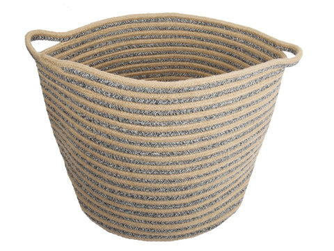 Cotton/Jute Rope Round Basket 16x14