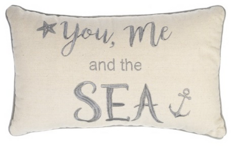 16x10 Pillow - You Me/The Sea, Canvas