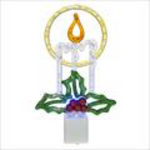 Candle Night Light Acrylic Ele