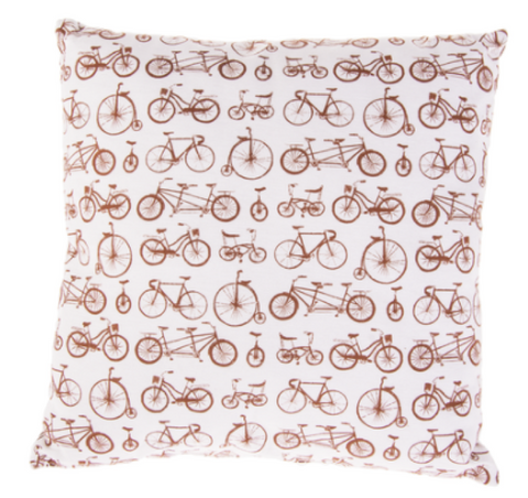 "16"" Square Pillow - Bicycle"