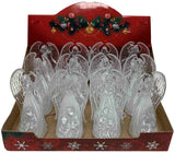 "Xmas LED Angel w/ Jesus, Mary, Joseph, Angels in Display 5.25"" (2 Asst)"