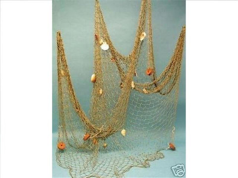 Fish Net With Sea Shells (100x200) (Natural)