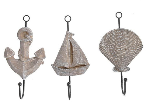 Nautical Decorative Wall Hooks (Asstd)