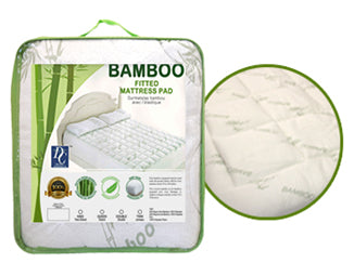 Bamboo Fitted  Mattress Pad King