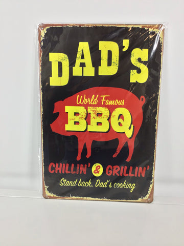 Small Dad's Bbq Sign