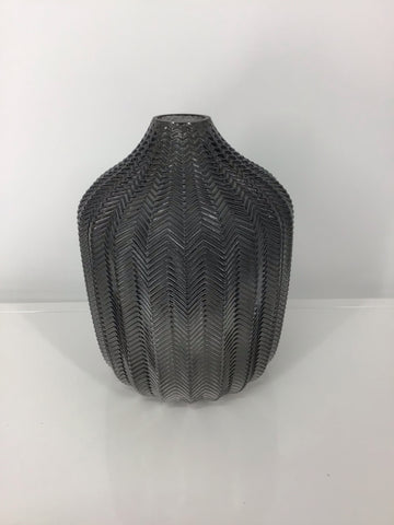 "9"" Textured Coloured Glass Vase"