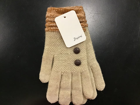 Ladies Fancy Gloves With Button On Them