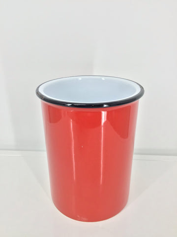 Enamel Look Crock - Red