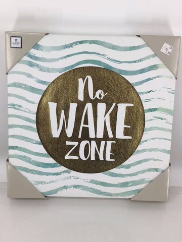 Wall Art, No Wake Zone