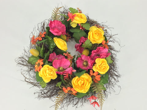 Floral Wreath- Colourful