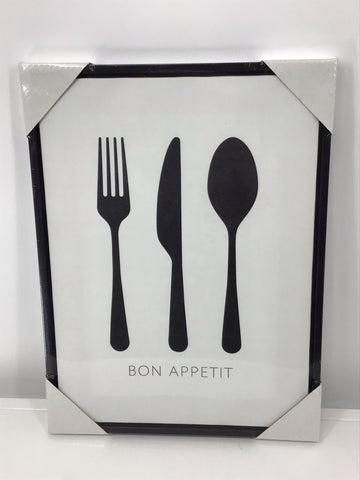 Framed Canvas Wall Art (Utensils with an Attitude) (Asstd)