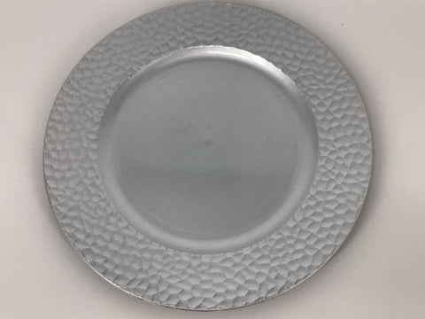 Charger Plate (Rumple) (Silver)