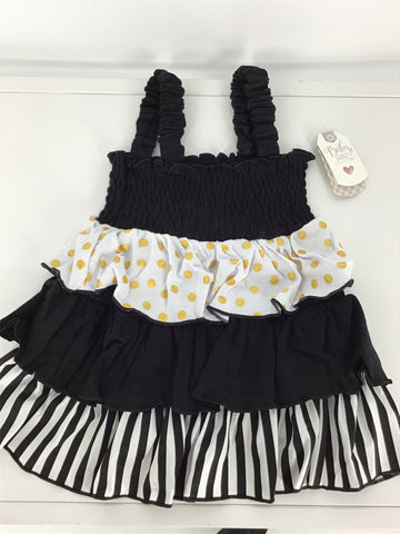 Smocked Ruffle Dress Cotton