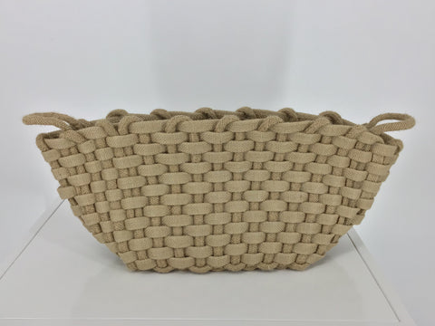 Chunky Jute Woven Storage Basket Natural 14x10x9