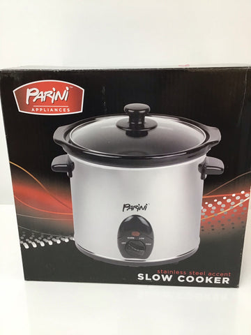 Parini Stainless Steel 3.2qt Round Slow Cooker