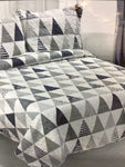 "Printed Quilts Queen Size 92"" x 94"" with 2 Pillow Shams"