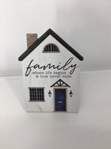 Ceramic House Shaped Signs (Asstd)