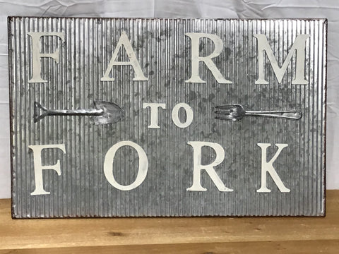 Farm To Fork Sign