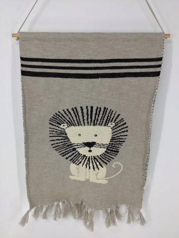 Knit Lion Wall Hanging Cotton