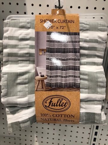 HUNTLEY WOVEN JAQ SHOWER CURTAIN